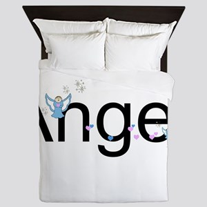 Personalizable Cute ANGEL Queen Duvet
