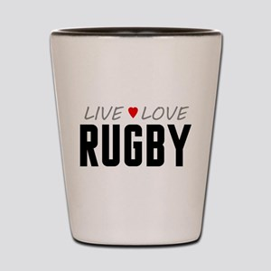 Live Love Rugby Shot Glass