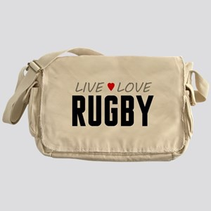 Live Love Rugby Canvas Messenger Bag
