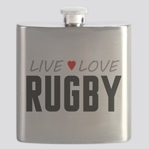Live Love Rugby Flask