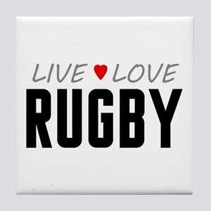 Live Love Rugby Tile Coaster