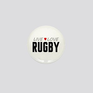 Live Love Rugby Mini Button