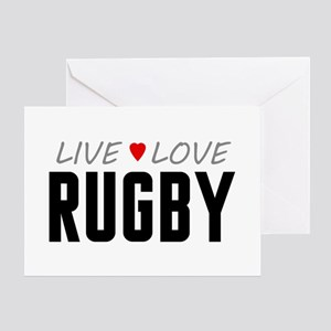 Live Love Rugby Greeting Card