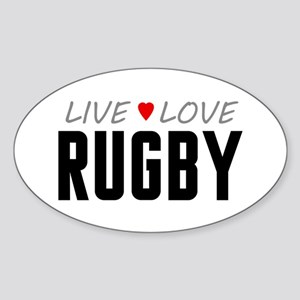 Live Love Rugby Oval Sticker
