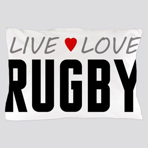 Live Love Rugby Pillow Case
