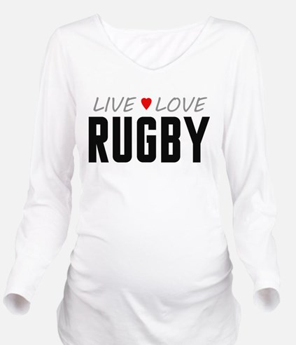 Live Love Rugby Long Sleeve Maternity T-Shirt