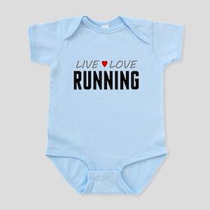 Live Love Running Infant Bodysuit