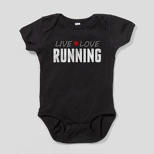Live Love Running Baby Bodysuit