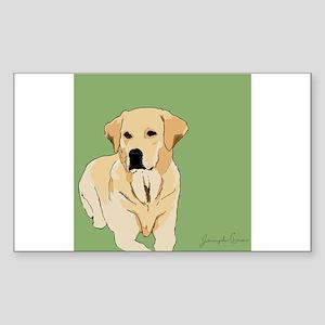 The Artsy Dog Lab Series Rectangle Sticker