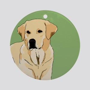 The Artsy Dog Lab Series Ornament (Round)