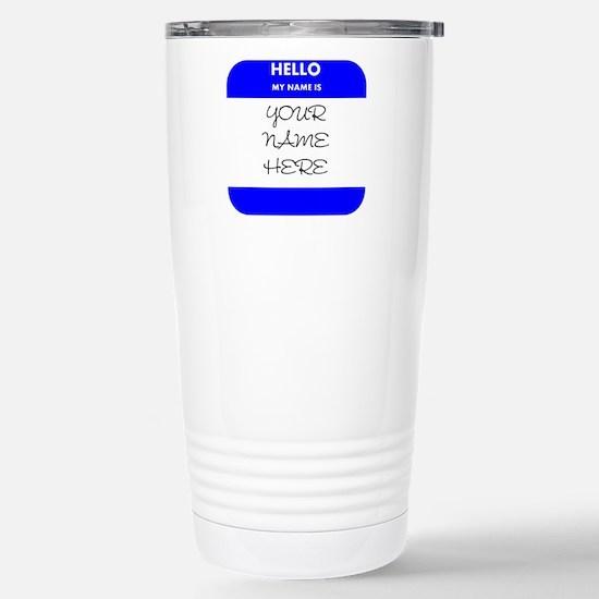 Custom Blue Name Tag Small Mugs