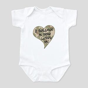 Iraq soldier loves me Infant Bodysuit