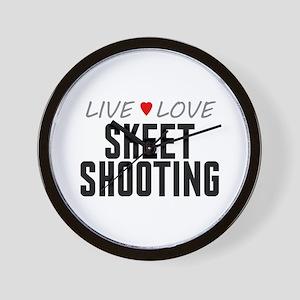 Live Love Skeet Shooting Wall Clock