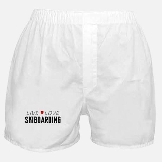 Live Love Skiboarding Boxer Shorts