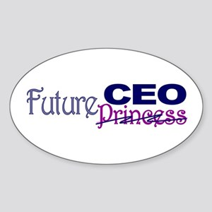 Future CEO Oval Sticker