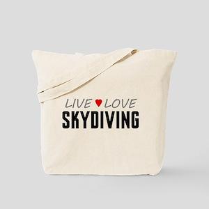 Live Love Skydiving Tote Bag