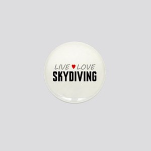 Live Love Skydiving Mini Button