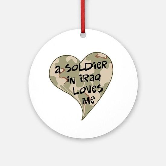 Iraq soldier loves me Ornament (Round)