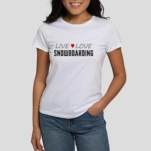 Live Love Snowboarding Women's T-Shirt