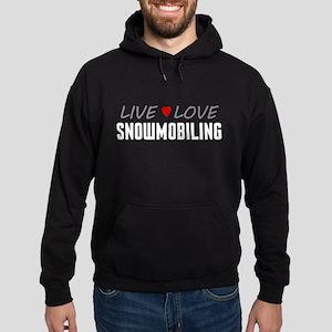 Live Love Snowmobiling Dark Hoodie