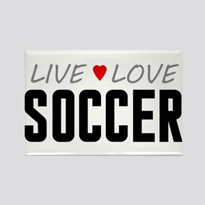 Live Love Soccer Rectangle Magnet