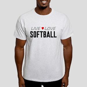 Live Love Softball Light T-Shirt