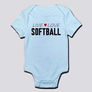 Live Love Softball Infant Bodysuit