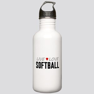 Live Love Softball Stainless Water Bottle 1.0L