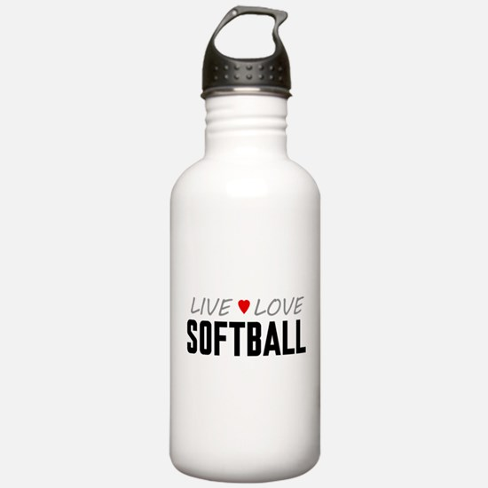 Live Love Softball Water Bottle