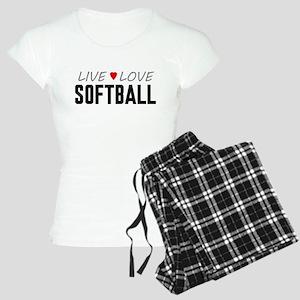Live Love Softball Women's Light Pajamas