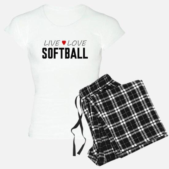 Live Love Softball Pajamas