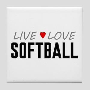 Live Love Softball Tile Coaster
