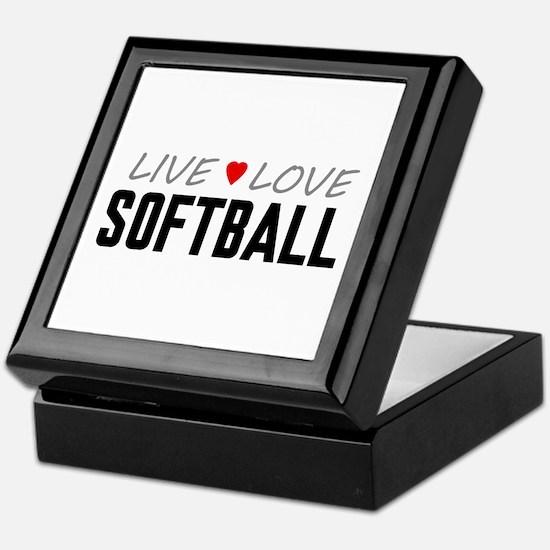 Live Love Softball Keepsake Box