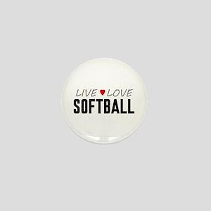 Live Love Softball Mini Button