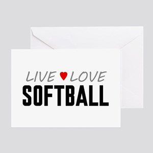 Live Love Softball Greeting Card