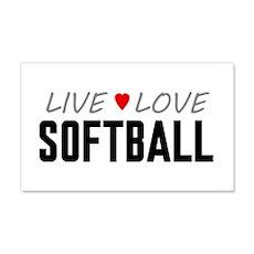 Live Love Softball 22x14 Wall Peel
