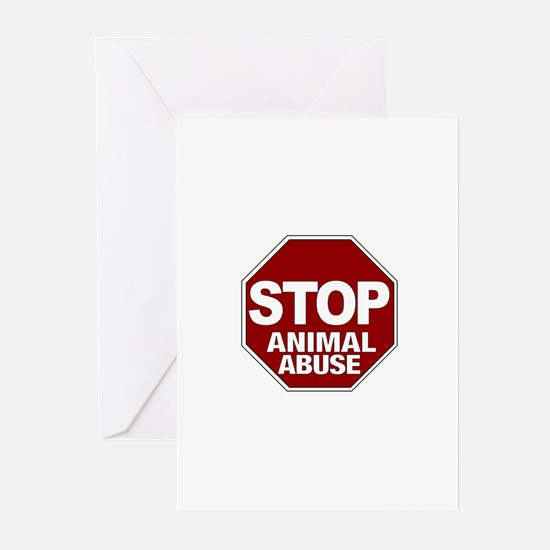 Stop Animal Abuse Greeting Cards (Pk of 10)