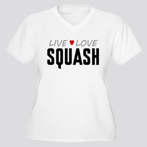 Live Love Squash Women's Plus Size V-Neck T-Shirt