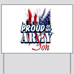 Proud of My Army Son Yard Sign