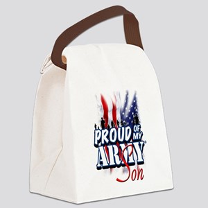 Proud of My Army Son Canvas Lunch Bag