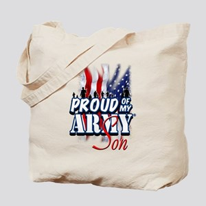 Proud of My Army Son Tote Bag