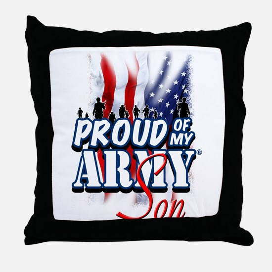 Proud of My Army Son Throw Pillow