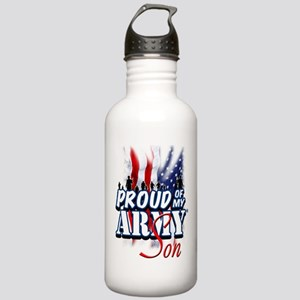 Proud of My Army Son Water Bottle