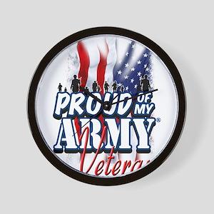 Proud of My Army Veteran Wall Clock