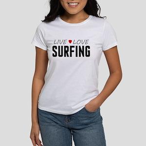 Live Love Surfing Women's T-Shirt