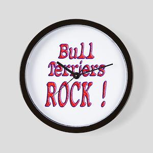 Bull Terriers Wall Clock