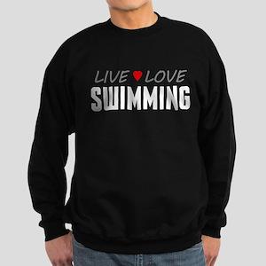 Live Love Swimming Dark Sweatshirt
