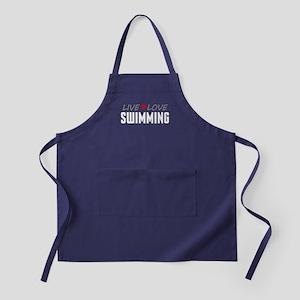 Live Love Swimming Dark Apron