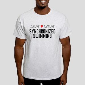 Live Love Synchronized Swimming Light T-Shirt