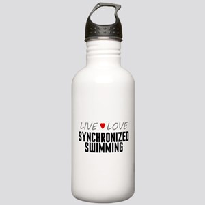 Live Love Synchronized Swimming Stainless Water Bo